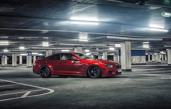 Картинка car, машина, тюнинг, tuning, parking, автообои, BMW M6, Prior Design