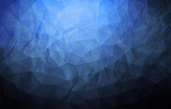 Картинка texture, blue, grunge, paper, triangle, polygon, abtract