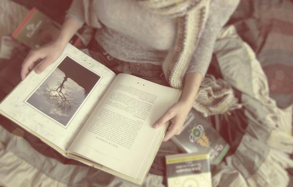 Картинка девушка, настроение, книги, чтение, soft lovers and hard covers