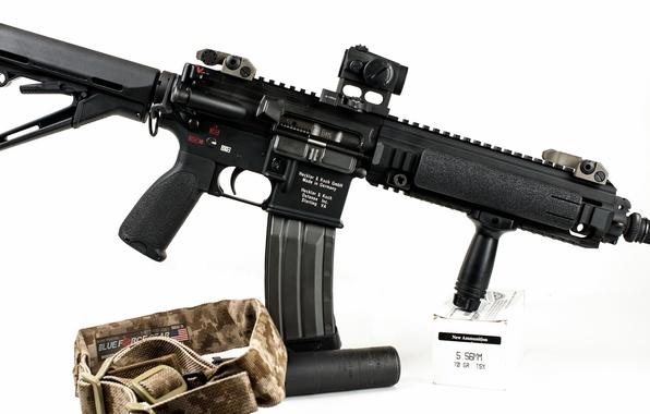 Картинка оружие, автомат, HK416