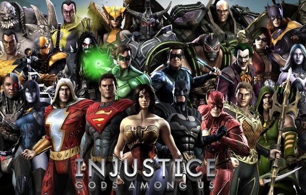 Картинка Wonder Woman, Batman, Joker, Green Lantern, Superman, Green Arrow, Lex Luthor, Bane, Catwoman, Batgirl, Harley …