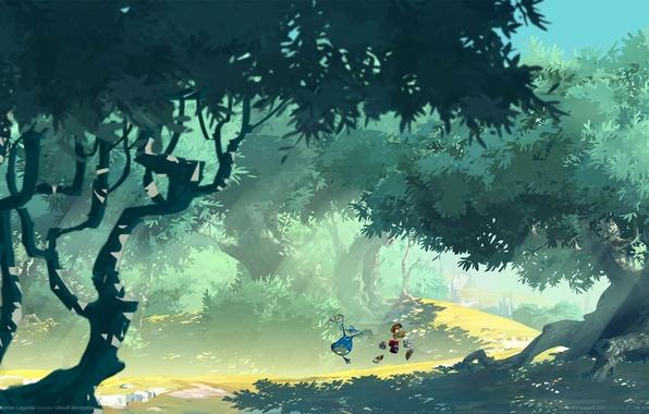 Обои игры игра Games Pubg Playerunknowns картинки на: Обои дорога, лес, деревья, игра, Game Wallpapers, Rayman