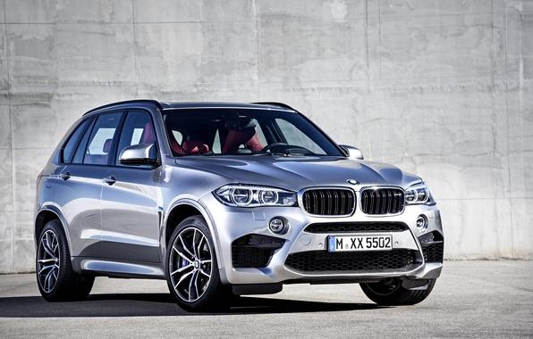 Картинка фото, BMW, Серый, Автомобиль, 2015, X5 M, Металлик