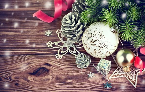 Картинка украшения, ветки, шары, елка, Новый Год, Рождество, Christmas, wood, decoration, Merry