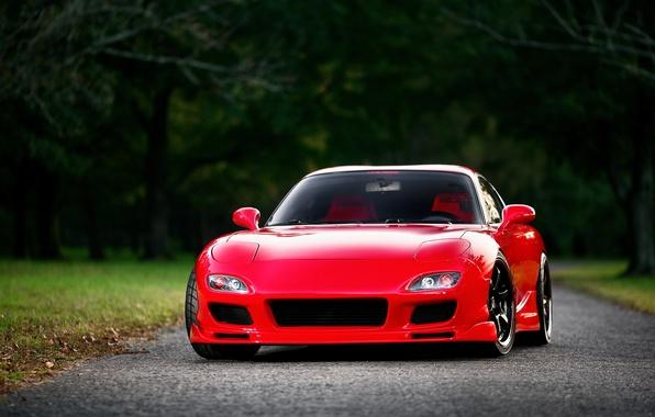Картинка red, Mazda, красная, front, мазда, RX-7