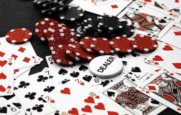 Картинка карты, фишки, Казино, покер