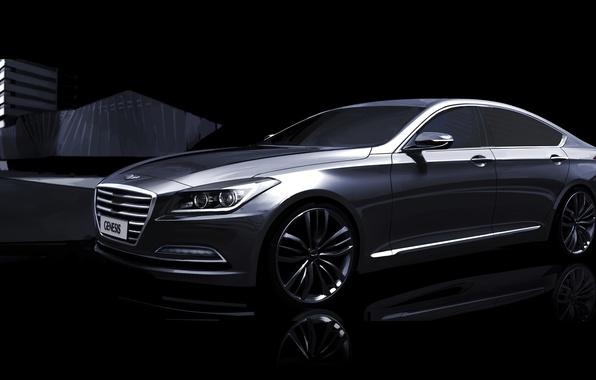 Картинка Hyundai, Genesis, teaser, хундай, G90