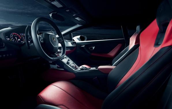 Картинка интерьер, Lamborghini, white, салон, front, приборная панель, LP 610-4, Huracan, Ronaldo Stewart, LB724