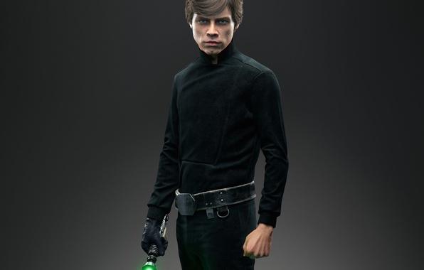 Картинка взгляд, костюм, пояс, лазерный меч, Джедай, Люк Скайуокер, Star Wars: Battlefront