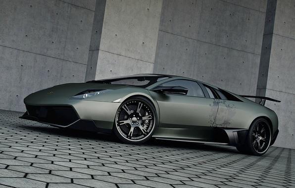 Картинка тюнинг, Lamborghini, Wheelsandmore, Murcielago, SuperVeloce, LP720-4