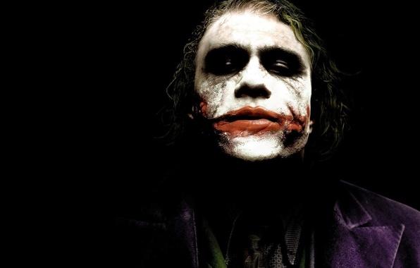 Картинка лицо, джокер, человек, мужик, темный рыцарь, joker, Хит Леджер, псих, преступник
