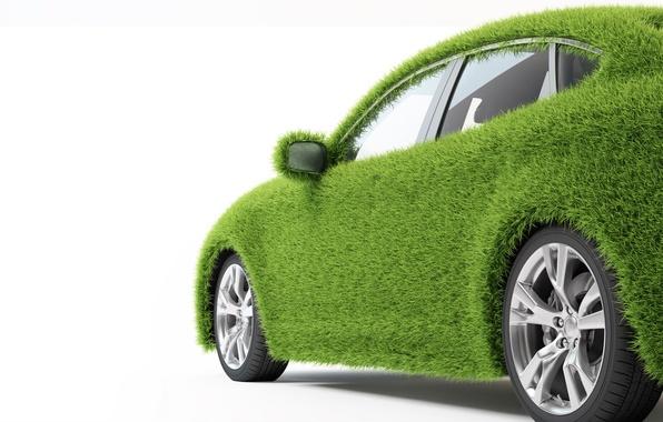 Картинка машина, трава, зеленый, транспорт, автомобиль