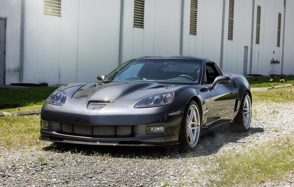 Картинка чёрный, фары, тюнинг, глянец, суперкар, автомобиль, решётка, диски, двухдверный, GT Spec 5