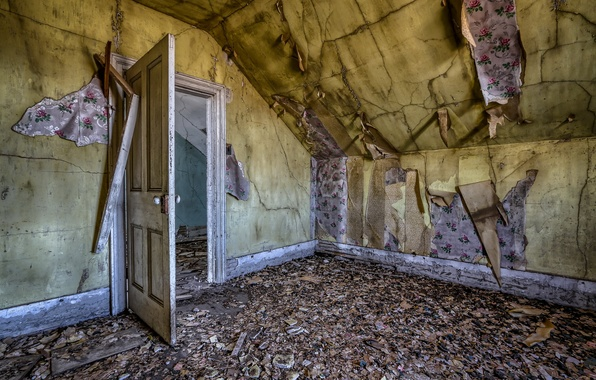 Картинка комната, стены, дверь