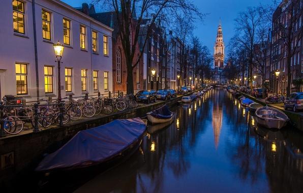 Картинка фото, Holland, Amsterdam, |синий час|