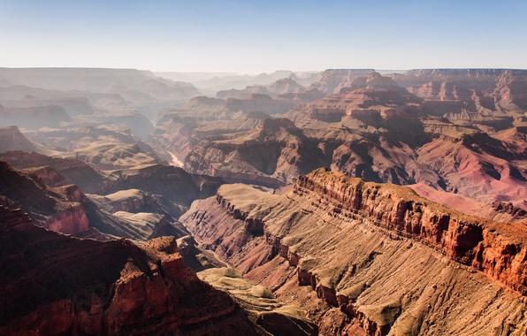 Картинка горы, каньон, Аризона, USA, США, Arizona, rocks, canyon, Гранд Каньон, Grand Canyon