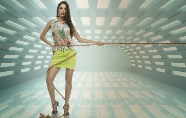 Картинка Model, Andresa Alves, String Spiral