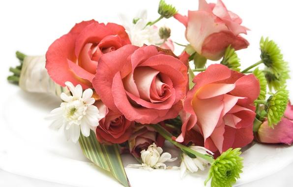 Картинка цветок, цветы, розы, rose, flower, красивые, flowers, beautiful, beauty, harmony, cool, bouquet, roses, nice, elegantly, …
