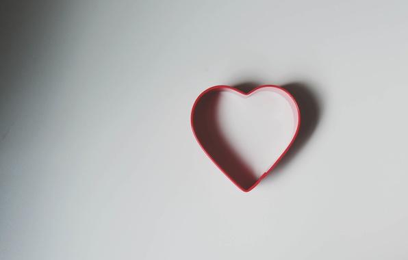 Картинка сердце, тень, форма