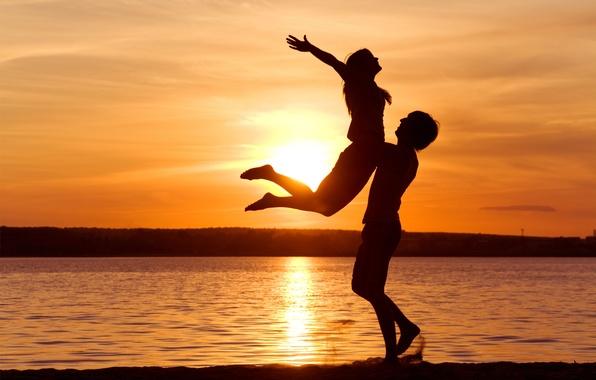 Картинка свобода, закат, романтика, нежность, чувства, пара, love, отношения, поддержка, pleasure, passion, Sunset sensuality