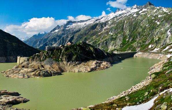 Картинка зелень, лето, свет, горы, Швейцария, Берн, Гуттаннен