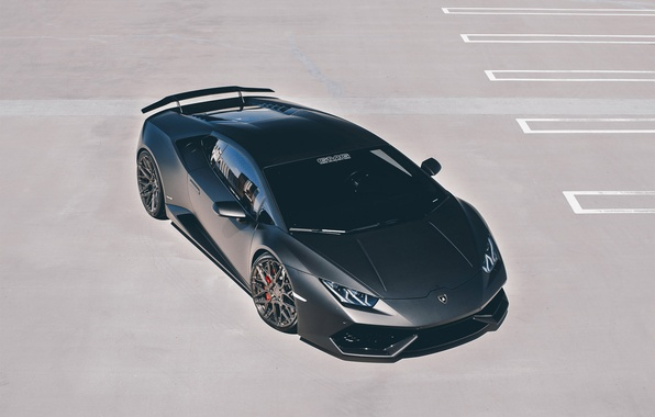 Картинка car, Lamborghini, wallpaper, supercar, black, Huracan, GMG