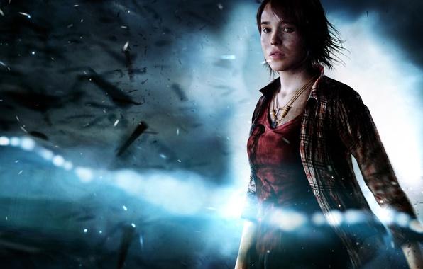 Картинка взгляд, обломки, девушка, связь, Quantic Dream, PS3, шрамы, Эллен Пейдж, Aiden, Ellen Page, Sony Computer …