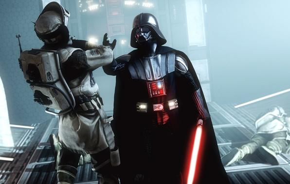 Картинка сила, злодей, star wars, darth vader, повстанец, lightsaber, Star Wars: Battlefront