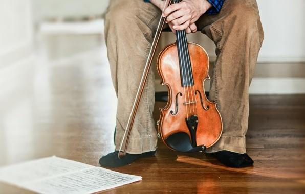 Картинка ноты, музыка, скрипка, человек