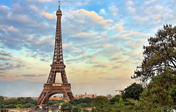 Картинка город, эйфелева башня, париж, франция, paris, france