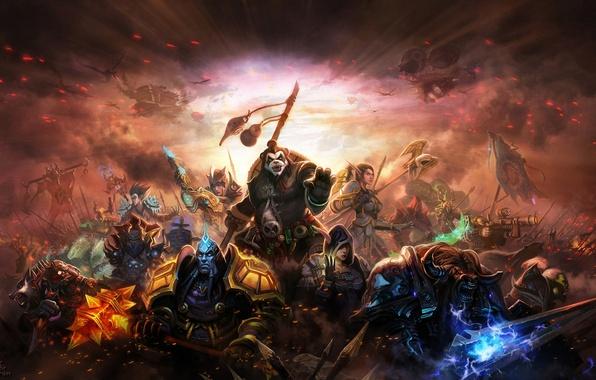 Картинка оружие, арт, World of Warcraft, персонажи, Mists of Pandaria, Liang xing