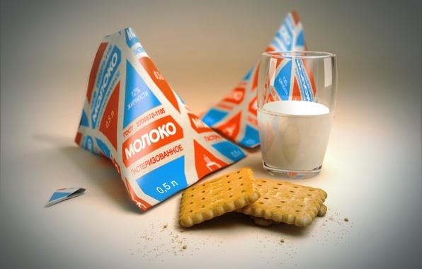 Картинка 150, молоко, печенье, пакет