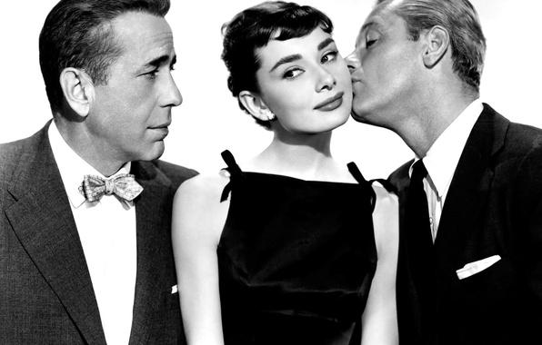Картинка ретро, 1954, Audrey Hepburn, Сабрина, Walter Hampden, Humphrey Bogart