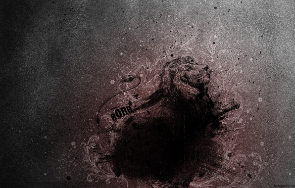 Картинка абстракция, лев, lion