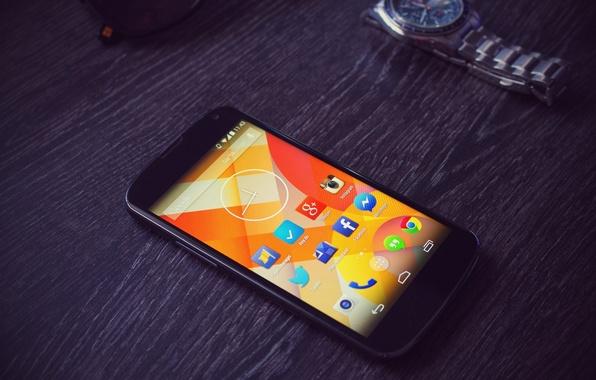 Картинка Android, Google, Watch, Smartphone, Nexus 4