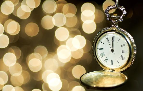 Картинка время, стрелки, часы, циферблат, боке
