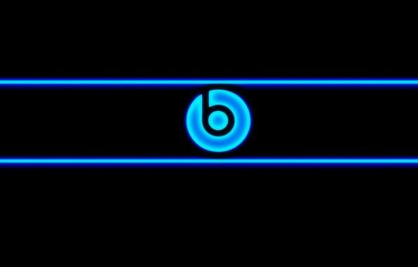 Картинка blue, neon, Beats, audio