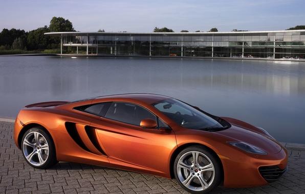 Картинка машина, авто, обоя, McLaren, бассейн, MP4-12C, макларен