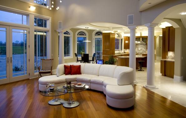 Картинка красный, дизайн, уют, стиль, стол, комната, диван, интерьер, подушки, квартира, журналы