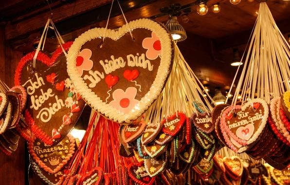 Картинка украшения, праздник, Германия, Рождество, сладости, Новый год, New Year, Merry Christmas, Берлин, ярмарка
