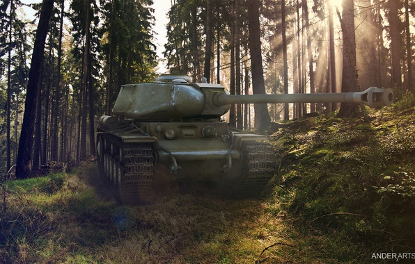 Фото обои квас, кв1с, wot кв1с, обои wot, обои, кв-1с, world of tanks