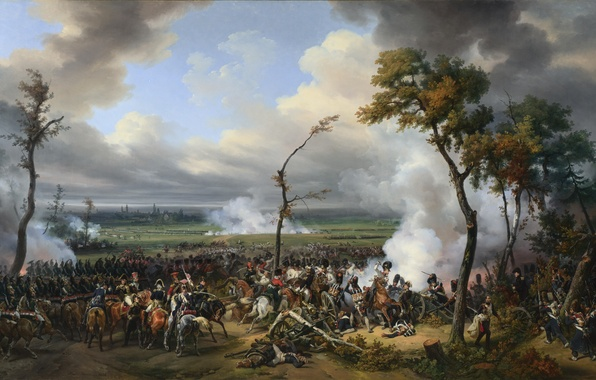 Картинка масло, картина, холст, «The Battle of Hanau», «Битва за Ханау»