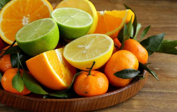 Картинка апельсины, лайм, цитрусы, лимоны, мандарины