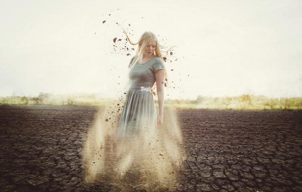 Картинка девушка, природа, земля
