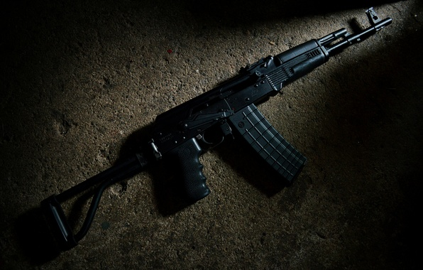 Картинка оружие, фон, ружьё, карабин, Сайга, самозарядное