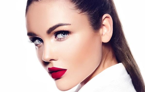 Картинка brunette, look, makeup