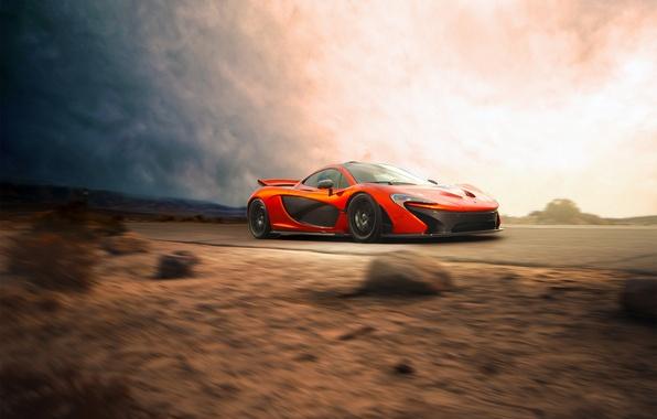 Картинка McLaren, Orange, Car, Speed, Front, Beauty, Supercar