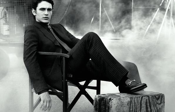 Картинка дым, костюм, галстук, актер, мужчина, James Franco, Джеймс Франко