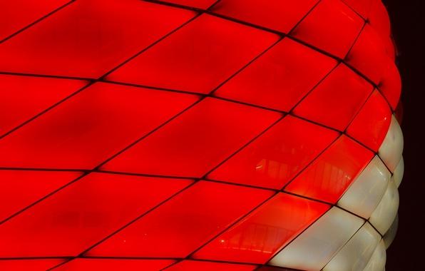 Картинка макро, огни, цвет, Мюнхен, стадион Альянц Арена