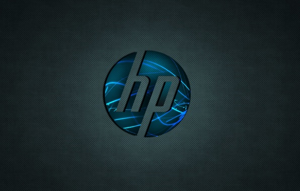 Hp logo hi tech бренд обои фото картинки